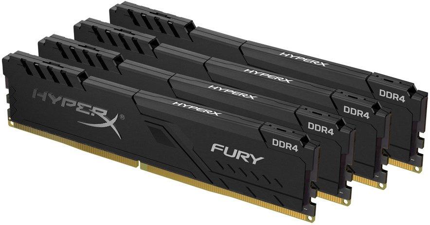 Оперативная память DIMM 16 Гб DDR4 3000 МГц HyperX Fury Black (HX430C15FB3K4/16) PC-24000, 4x 4 Гб KIT фото