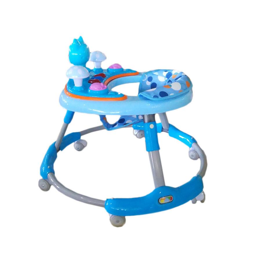 Купить SHANTOU Ходунки Котенок (цвет: синий) [УТ0009562], пластик, Металл, Текстиль, Ходунки и прыгунки для малышей