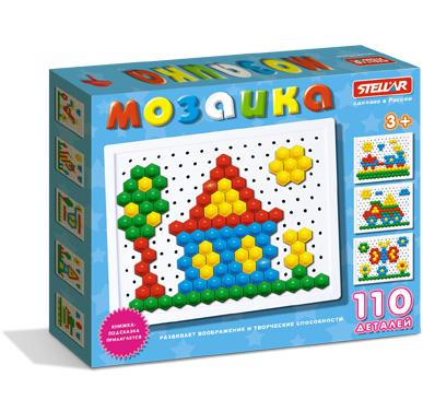 Купить STELLAR Мозаика (диаметр 13мм/110 деталей) [1036], полипропелен, Мозаика для детей