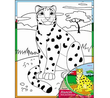 Купить РЫЖИЙ КОТ Холст Леопард , с красками, 20х25 см [Х-9835], Рыжий кот, Россия, Детские товары