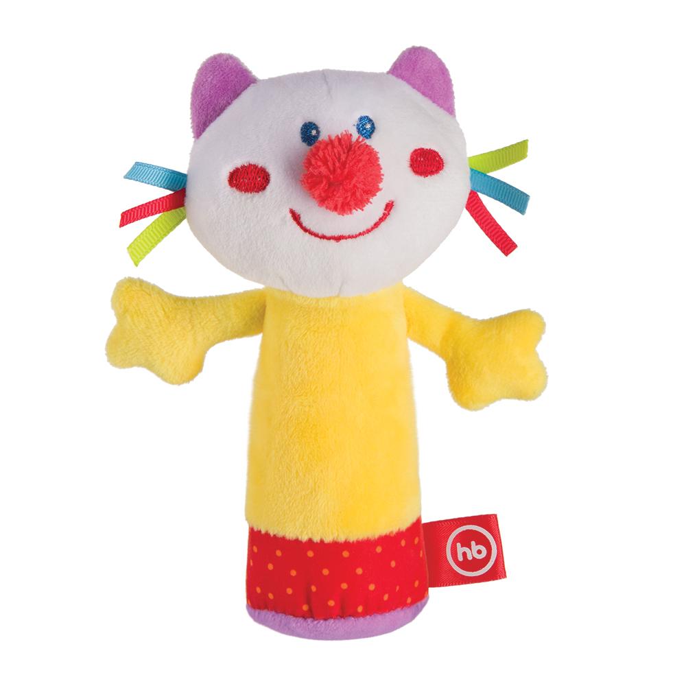 Купить Погремушка HAPPY BABY 330358 CHEEPY KITTY, Полиэстер, синтетические волокна и нити, хлопок, Для мальчиков и девочек, Китай, Погремушки и прорезыватели