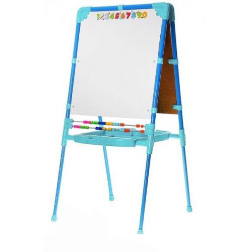 Купить НИКА Мольберт Ника растущий, со счетами (голубой) [М2/Г], Доски и мольберты для рисования
