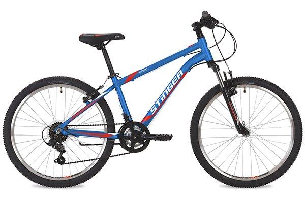 Купить STINGER Велосипед хардтейл Element (2019), синий [24AHVELEMENT14BL9], Велосипеды для взрослых и детей