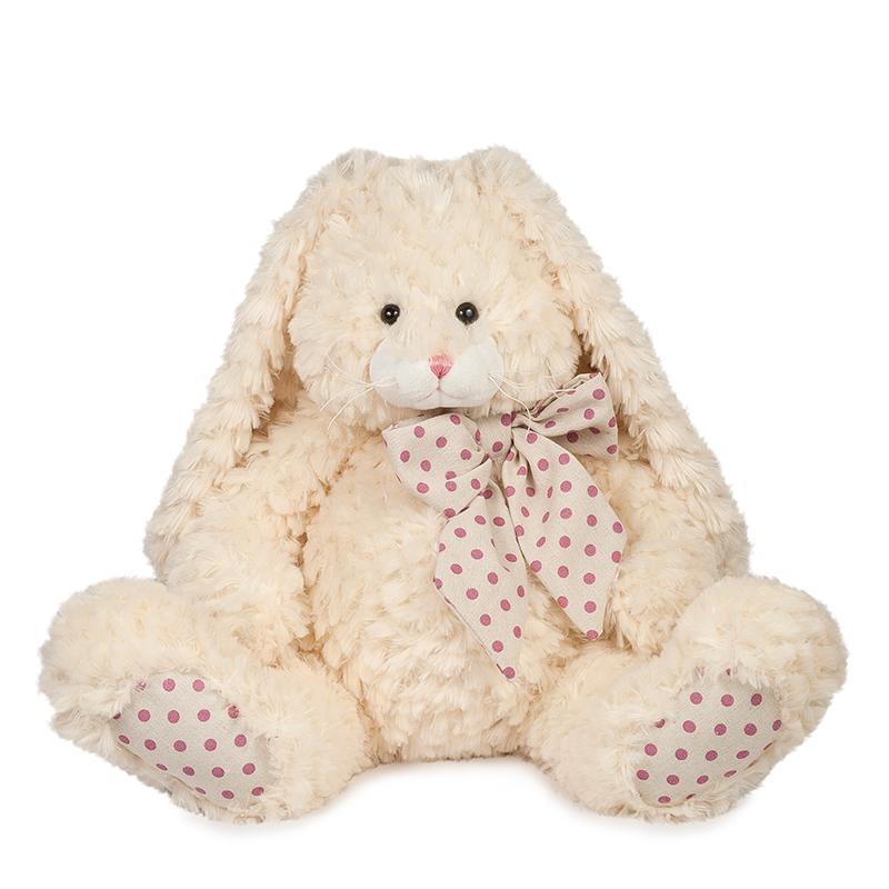 Купить Мягкая игрушка MAXITOYS MT-TS112017-6-35S Зайка Мия 35 см, мех искусственный, полиэтиленовые гранулы, трикотажное волокно, полое полиэфирное волокно, фурнитура из пластмассы., Для мальчиков и девочек, Китай, Мягкие игрушки