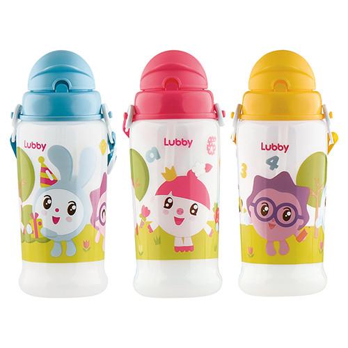 Купить LUBBY Поильник в комплекте с трубочкой Малышарики , от 6 месяцев, 360 мл [20911/144/12], в ассортименте, Силикон, полипропилен, Поильники для малышей