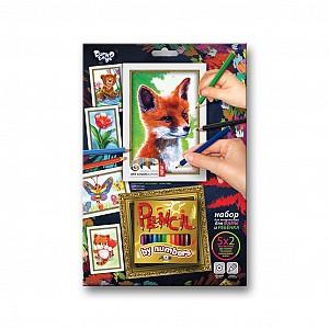 Купить ДАНКО-ТОЙС Набор для тв-ва раскраска карандашами по номерам Лиса [PBN-01-01], Danko toys, Украина, Раскраски