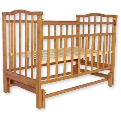 Купить АГАТ Кровать детская ЗОЛУШКА-3 (попер маятник) Орех [52101], Россия, Кроватки детские