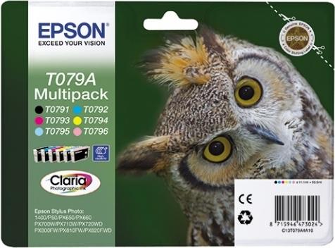 Купить Набор струйных картриджей Epson T079A (C13T079A4A10), Набор цветов, Китай