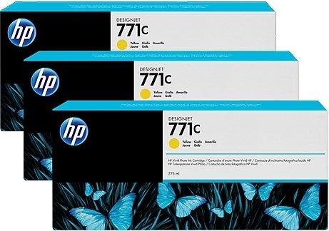 Купить Набор струйных картриджей HP 771c Yellow (B6Y34A), Yellow (Желтый), Китай