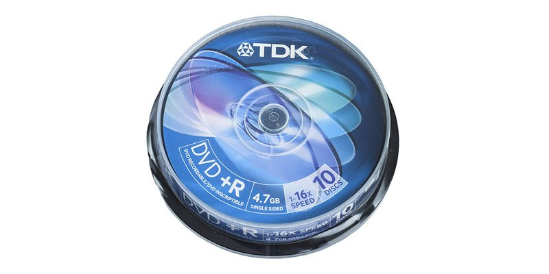 Диск TDK DVD+R 4.7Gb 16x Cake Box (10шт) (t19442) DVD+R47CBED10