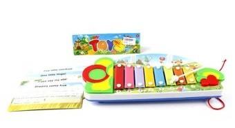 Купить НАША ИГРУШКА Ксилофон Лето, нотные карточки. [3067], Shantou, Пластик, металл, Детские музыкальные инструменты