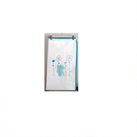 Купить KIDBOO Плед Elephants (цвет: белый/голубой, велсофт) [00-0011988], Голубой белый, Для мальчиков, Покрывала, подушки, одеяла для малышей
