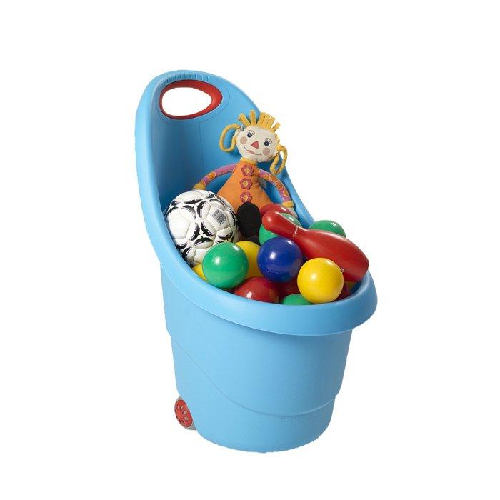 Купить KETER Корзина KIDDIES GO для игрушек на колесах (38x35x62h) Голубой BLUE [17183001], Израиль, Принадлежности для хранения игрушек