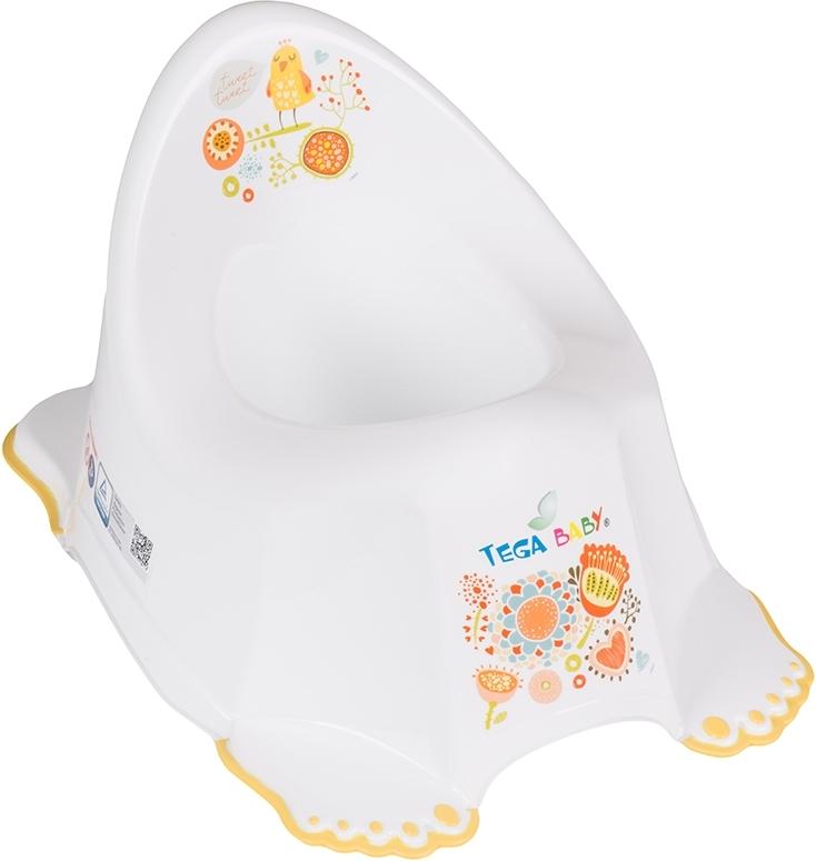 Купить ТЕГА Детский горшок антискользящий FOLK (ФОЛЬКЛОР) белый [FL-001-103], Tega baby, Горшки и детские сиденья на унитаз