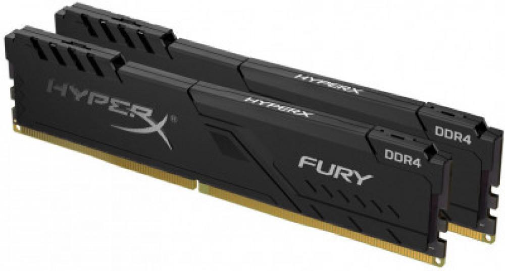 Оперативная память DIMM 8 Гб DDR4 2400 МГц HyperX Fury Black (HX424C15FB3K2/8) PC-19200, 2x 4 Гб KIT фото