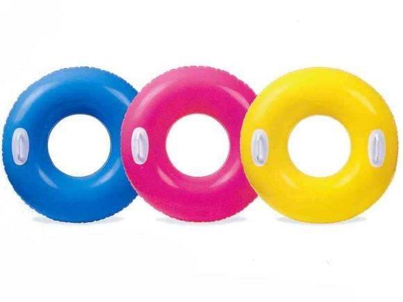 Купить С59258, INTEX Круг надувной Глянцевый с ручками 76 см [59258], Надувные игрушки