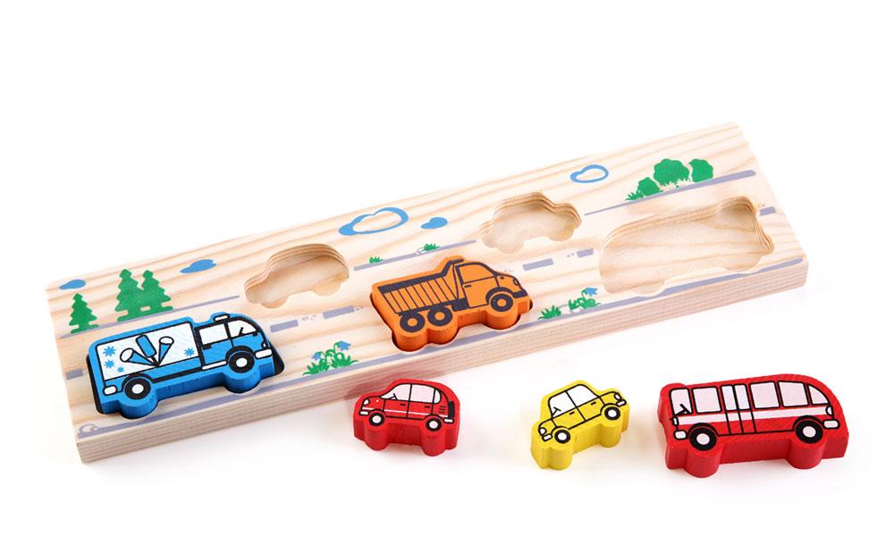 Купить Рамка-вкладыш ТОМИК 362 Транспорт, Дерево, Для мальчиков и девочек, Россия, Игрушки для развития мелкой моторики