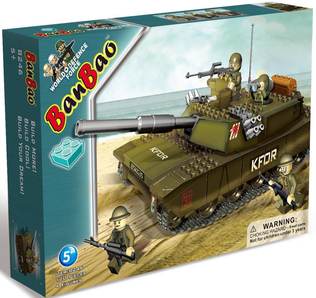 Купить BANBAO Конструктор Танк , 119 деталей, 40х30х5 см [8246], Пластик, Для мальчиков и девочек, Россия, Конструкторы