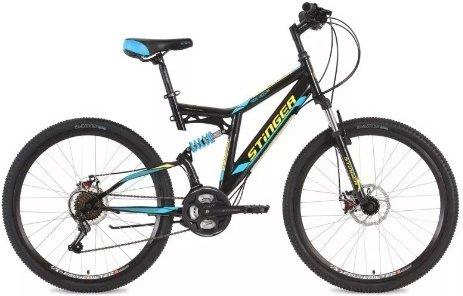 Купить STINGER Велосипед горный Highlander D, черный [26SFDHILANDISC16BK8], Велосипеды для взрослых и детей