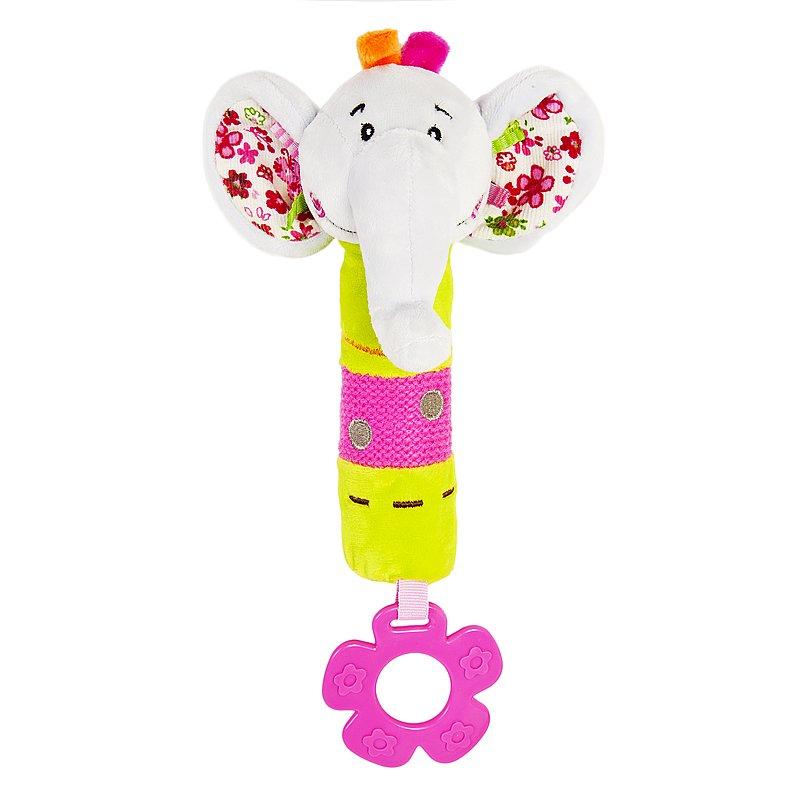 Купить ЖИРАФИКИ Пищалка с прорезывателем Слонёнок Тим [93557], Жирафики, Погремушки и прорезыватели