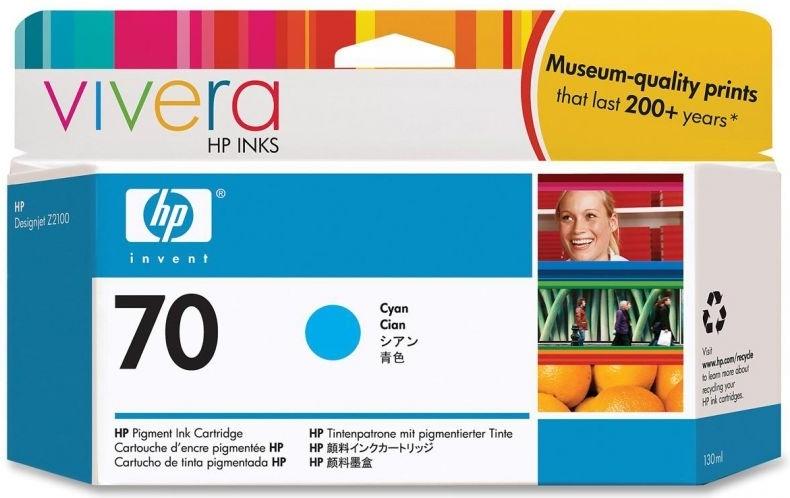 Струйный картридж HP 70 Cyan (C9452A) фото