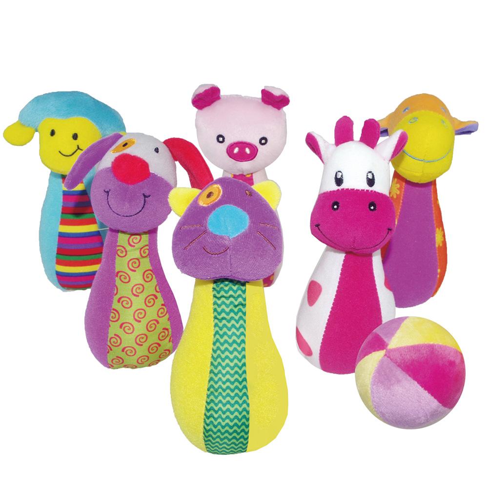 Купить BIBA TOYS Развивающая игрушка набор боулинга СЧАСИВАЯ ФЕРМА 58x44x42 см [BS544], Китай, Развивающие игрушки для малышей