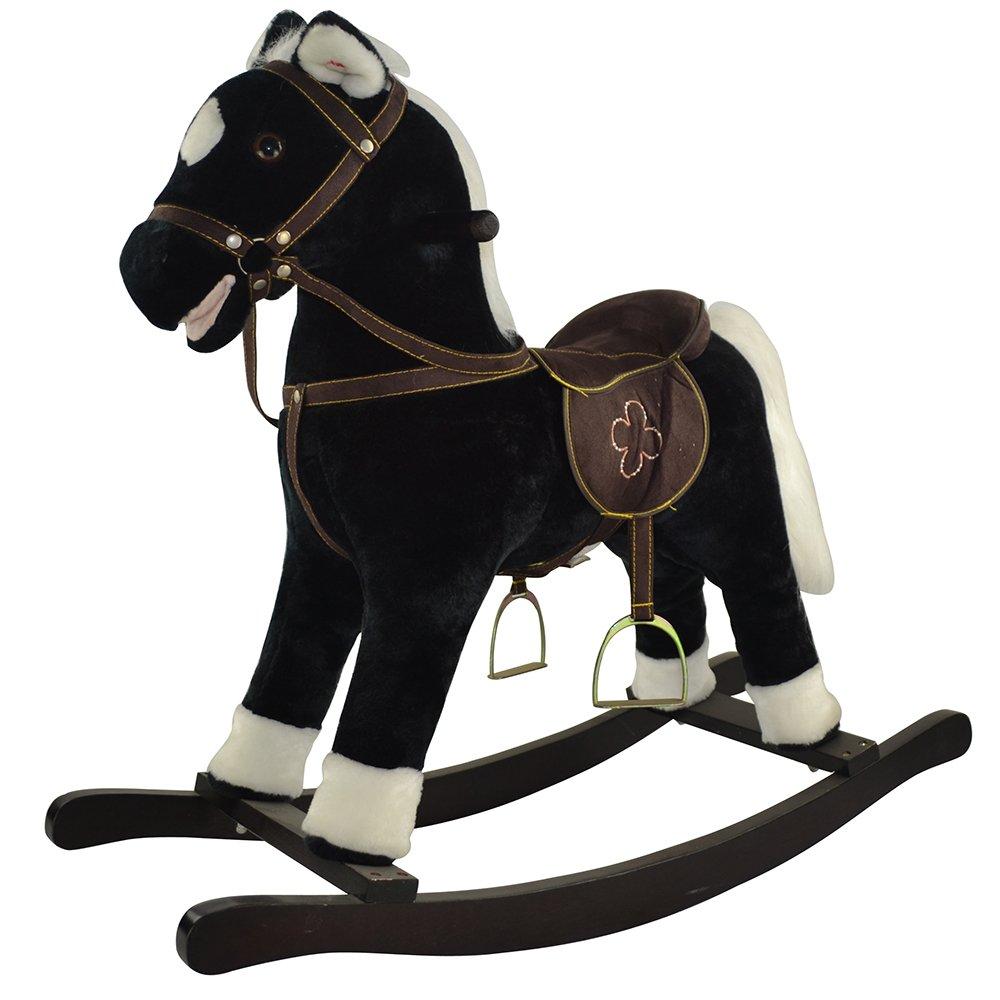 Купить GS2033, PITUSO FANDANGO Качалка-Лошадка мягконаб., муз., Черный, 74*30*64см, Китай, Каталки и качалки для малышей