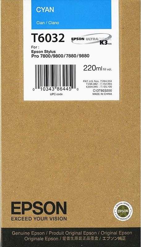 Струйный картридж Epson T6032 Cyan (C13T603200) фото