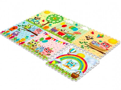 Купить MAMBOBABY Коврик-пазл Парк сов (180х120 см) [024ТМ], полипропилен, Китай, Развивающие коврики для малышей