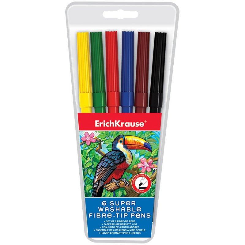 Купить ERICHKRAUSE Фломастеры (6 цветов) [33049EK], Детские товары