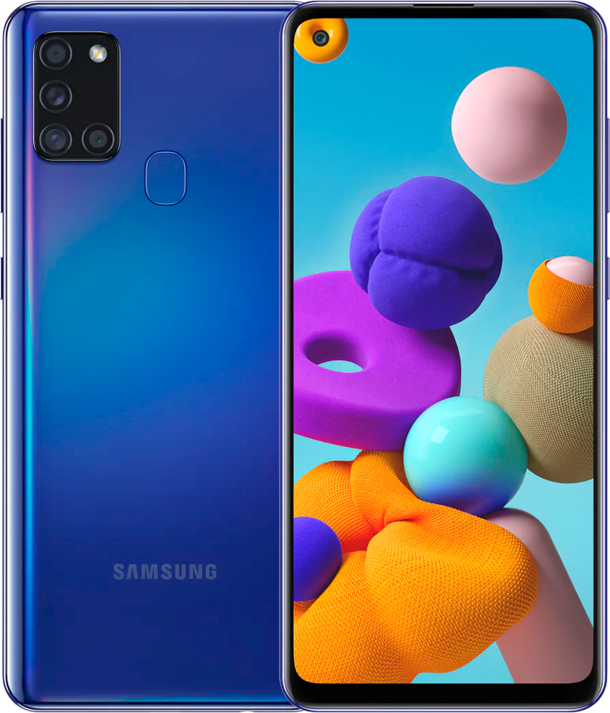 Смартфон Samsung Galaxy A21s 3/32Gb (SM-A217FZBNSER) синий фото