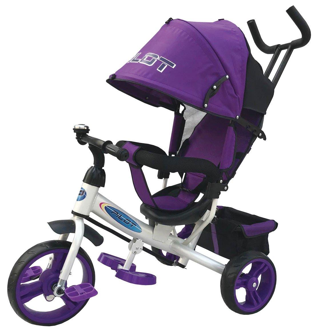 Купить Детский велосипед SHANTOU Pilot (PT3V/2019) фиолетовый, Фиолетовый, пластик, Металл, Текстиль, Китай, Велосипеды для взрослых и детей