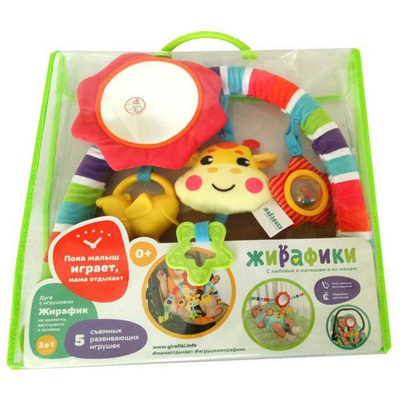 Купить ЖИРАФИКИ Развивающая дуга с пятью игрушками Жирафик [939625], пластик, Текстиль, Мобили для малышей