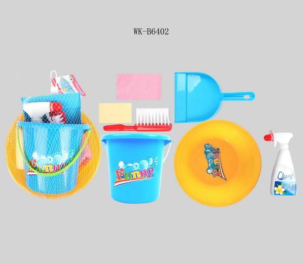 Купить JUNFA TOYS Набор для уборки Fanny [90], пластмасса, Китай, Детские кухни и бытовая техника
