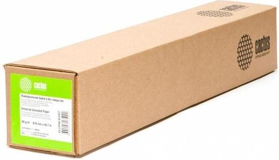 """Картинка для Бумага Cactus CS-LFP90-610457 24""""(A1) 610мм-45.7м/90г/м2/белый для струйной печати втулка:50.8мм (2"""")"""