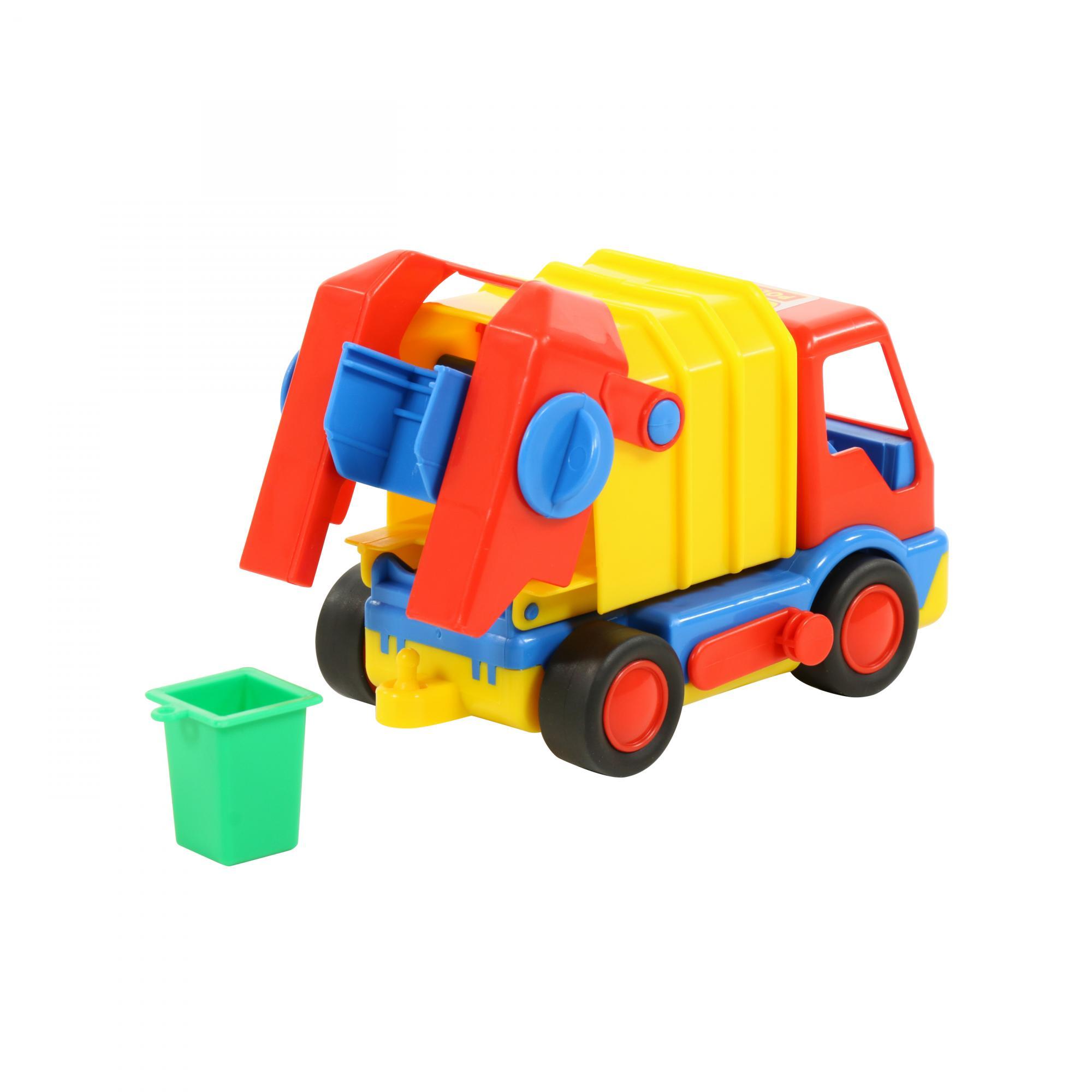Купить Автомобиль Базик коммунальный (в сеточке) [П-9609], Полесье, Игрушечные машинки и техника