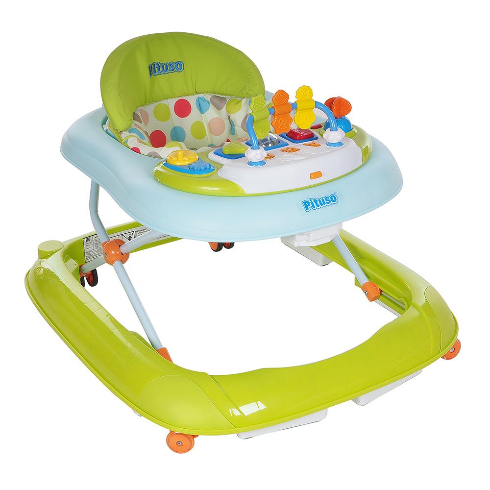 Купить PITUSO Ходунки ABC (8 силик.кол, игр муз пан) Зеленый [W1001PB2], Китай, Ходунки и прыгунки для малышей