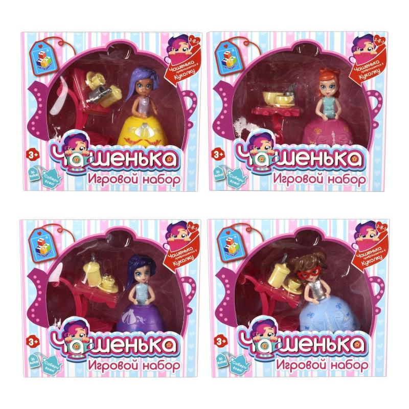 Купить 1 TOY Игровой набор кукла Чашенька 10 см с юбочкой, аксессуары(в ассортименте, 36 видов). [Т12312], Для девочек, Куклы и пупсы