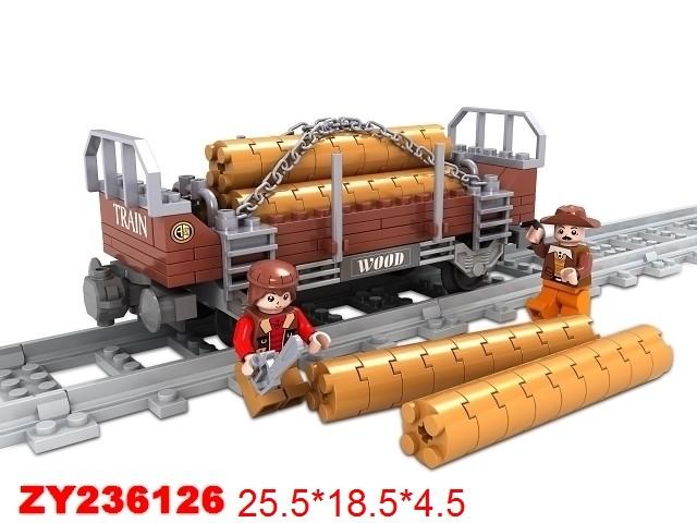 Купить AUSINI Конструктор Железная дорога , 150 деталей [ZY236126], пластик, Конструкторы