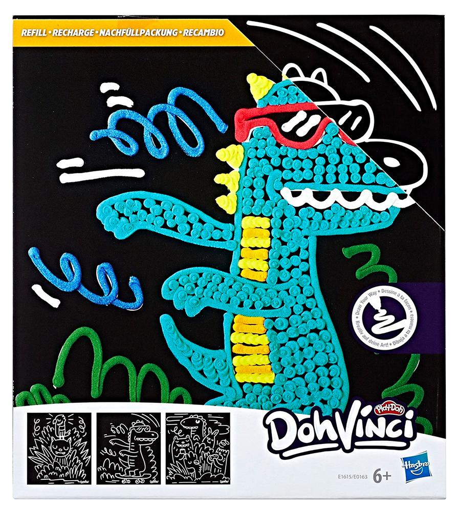 Купить Трафареты Hasbro Play-Doh DohVinci Дикие животные (E1615/E0163), Черный, Китай, Пластилин и масса для лепки