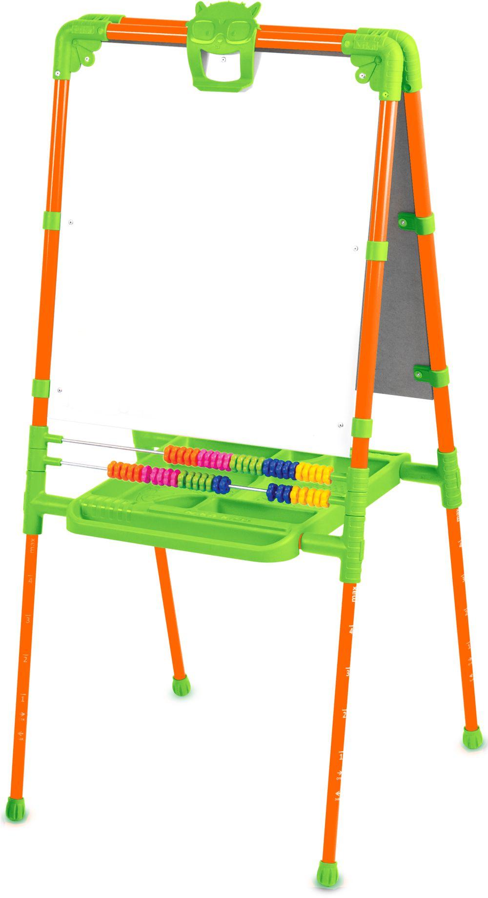Купить NIKA KIDS Мольберт растущий, двусторонний (оранжевый) [М2Л/О], Россия, Доски и мольберты для рисования