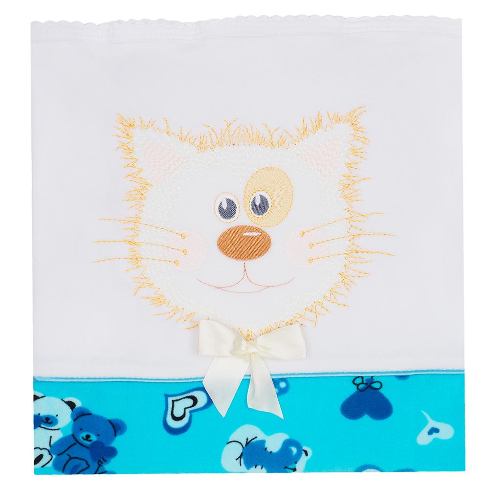 Купить БАЛУ Плед ОЗОРНИК 100x85 см Голубой [ш613], Россия, Покрывала, подушки, одеяла для малышей