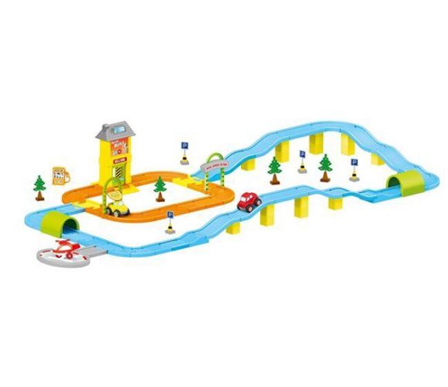 Купить DOLU Игровой набор дорога с машинками [DL_5155], 204 x 92 x 28 см, пластик, Детские парковки и гаражи