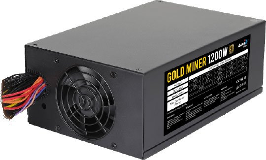 Блок питания 1200W Aerocool Gold Miner 1200