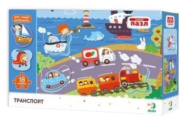 Купить DODO Пазл-сортер DoDo Транспорт [R300158], Картон, Украина, Пазлы