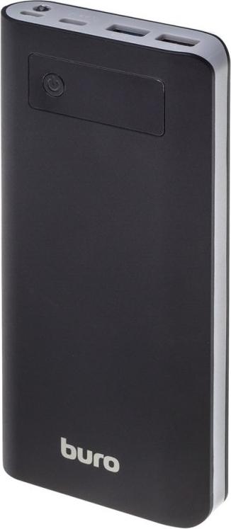 Купить Мобильный аккумулятор Buro RB-20000-LCD-QC3.0-I&O Li-Ion 20000mAh 3A+2A черный/темно-серый 2xUSB (RB-20000-LCD-QC3.0-I&O), Черный, Китай