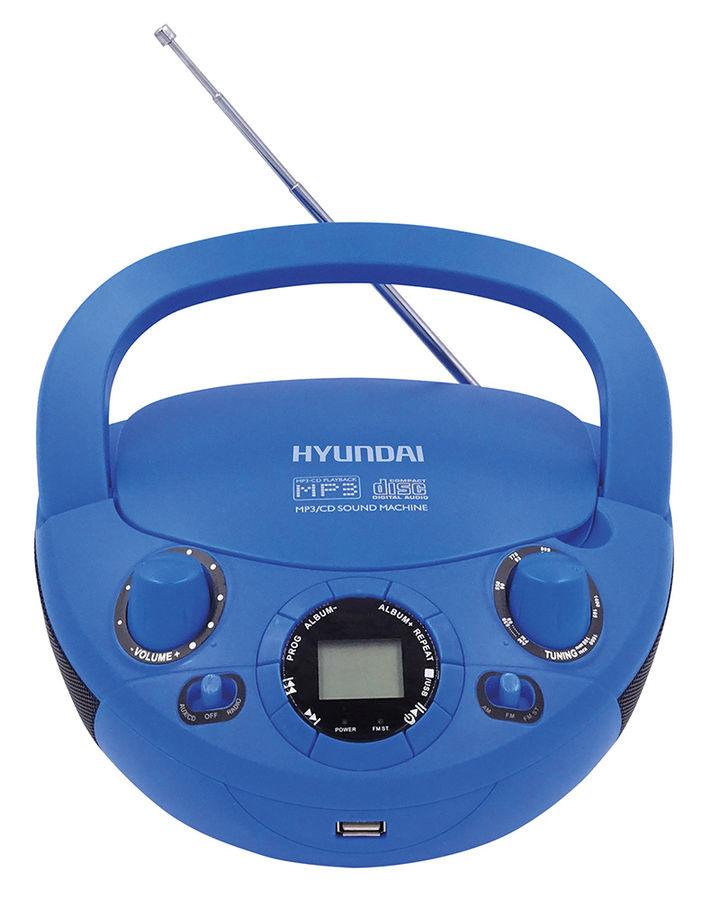 Аудиомагнитола HYUNDAI H-PCD220, синий фото