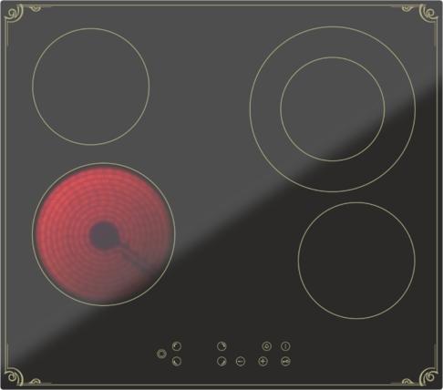 Варочная панель DARINA 4P8 E326 B, Черный, Китай  - купить со скидкой