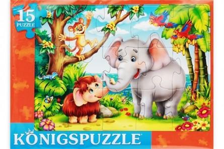 KÖNIGSPUZZLE Пазл-рамка Konigspuzzle. Сказка №65 , 15 элементов [ПК15-9976/РК], Königspuzzle, Картон, Пазлы  - купить со скидкой