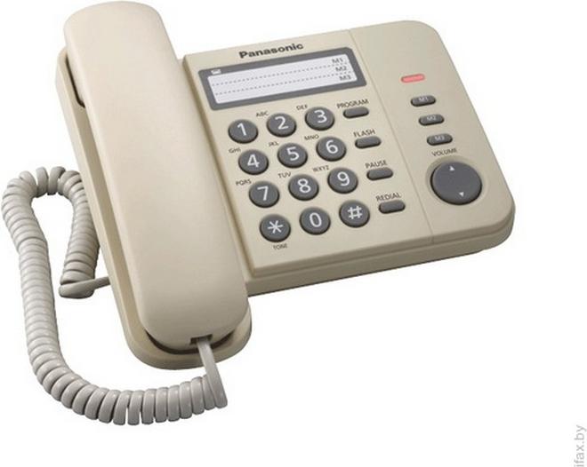 Проводной телефон Panasonic (KX-TS2352 RUW) White